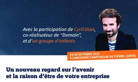 """Retraite de leadership pour dirigeants du 24 au 26 octobre 2019 :  12 dirigeants et 12 enfants autour de Cyril Dion, co-réalisateur du documentaire """"DEMAIN"""""""